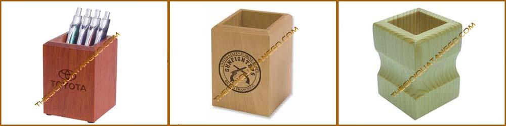 hộp lọ cắm bút gỗ quà tặng 0