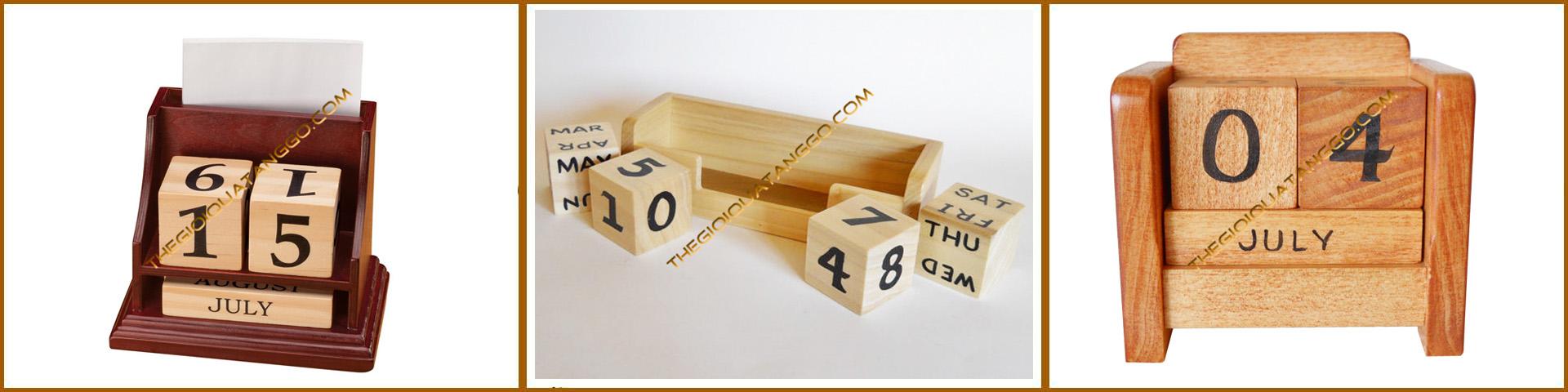 lịch gỗ để bàn trang trí 3